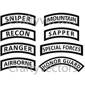 Army Tabs Vector File