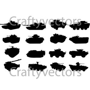 Army Vehicles Vector File