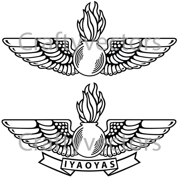Navy Avaition Ordnance Badge Vector File
