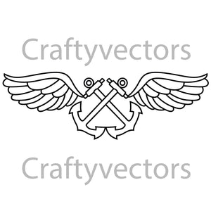 Navy Aviation Boatswain's Mate Badge Vector File