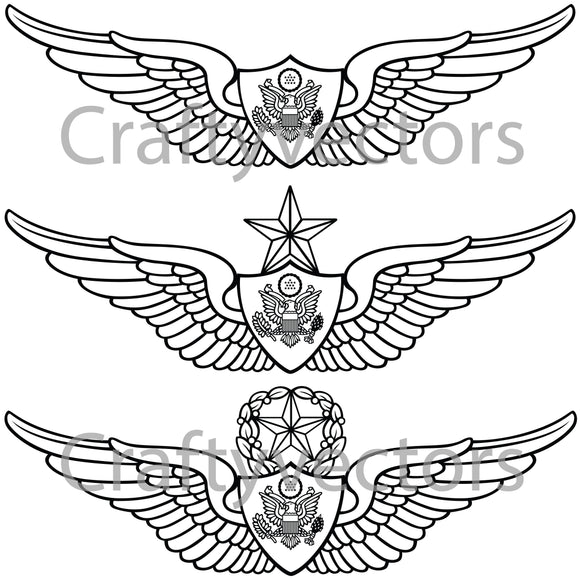 Army Aviation Wings Vector File