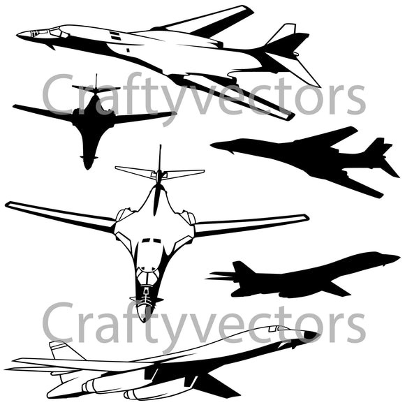 B1B Bomber Vector File