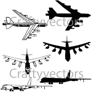 Boeing B-52 Stratofortress Vector File
