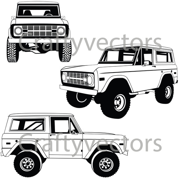 Ford Bronco Vector
