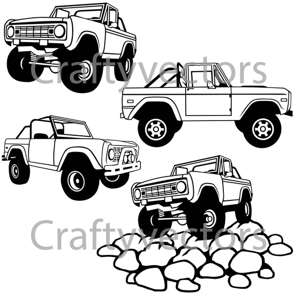 Ford Bronco Open Top Vector