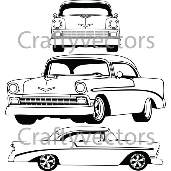 Chevrolet Bel Air 1956 Lowered Vector