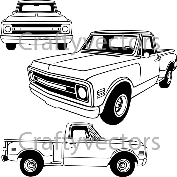 Chevrolet C10 1969 Stepside Vector
