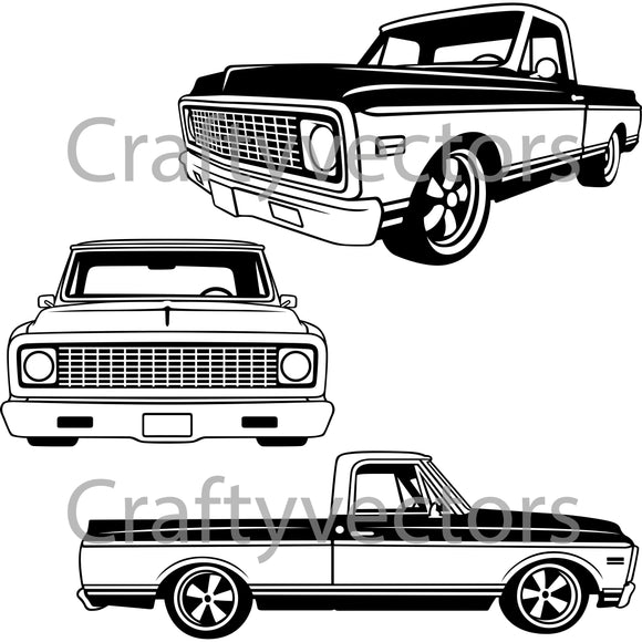Chevrolet C10 1971 to 1972 Vector