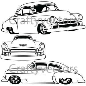 Chevrolet Fastback Hot rod 1951 Vector