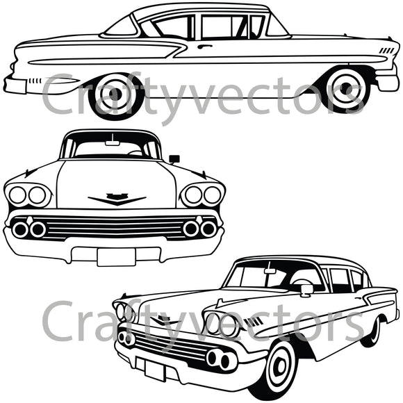 Chevrolet Bel Air 1958 Vector