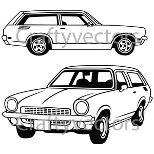 Chevrolet Vega Wagon 1972 Vector