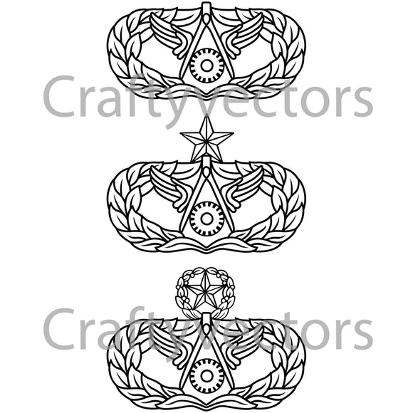 Air Force Civil Engineering Occupational Badge Vector File