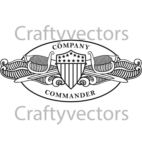 Coast Guard Company Commander Insignia Vector File