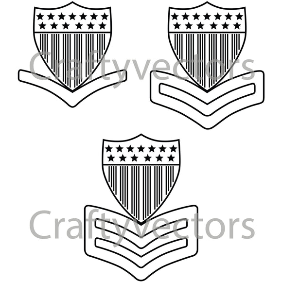 Coast Guard Enlisted Petty Officer Collar Device Vector File