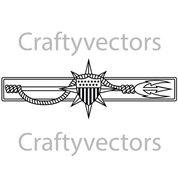 Coast Guard Marine Safety Badge Vector File
