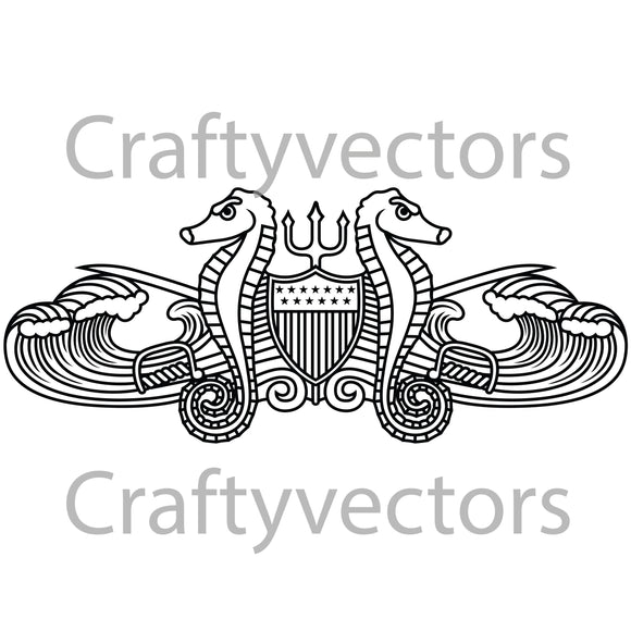 Coast Guard Port Secuirty Badge Vector File