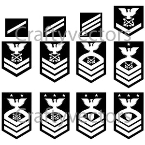 Coast Guard Ranks Vector File