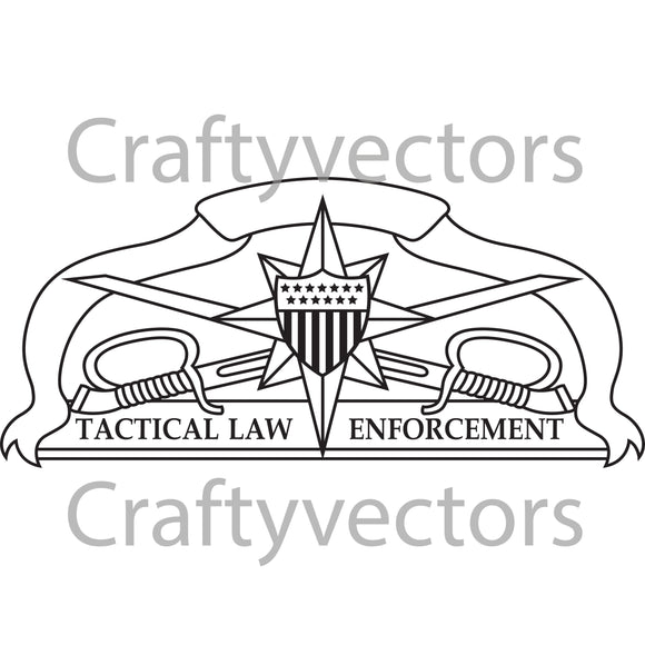 Coast Guard Tactical Law Enforcement Badge Vector File