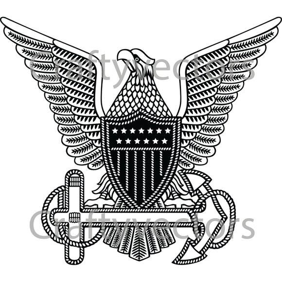 Coast Guard Vintage Officer Badge Vector File