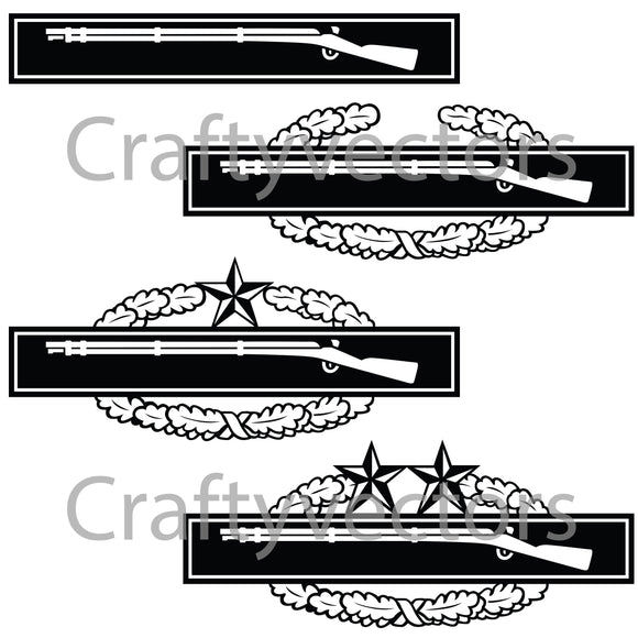 Army Combat Infantry Badge Vector File