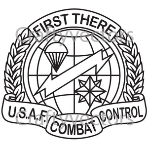 Air Force Combat Control Team Badge Vector File