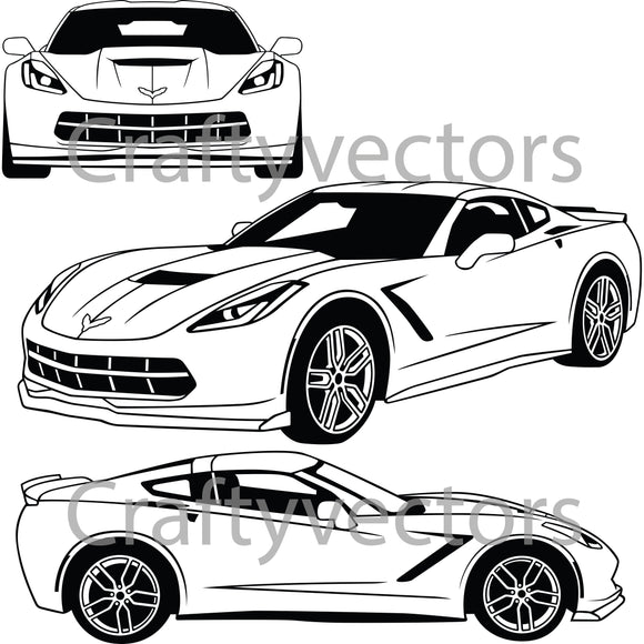 Chevrolet Corvette Stingray 2019 Vector