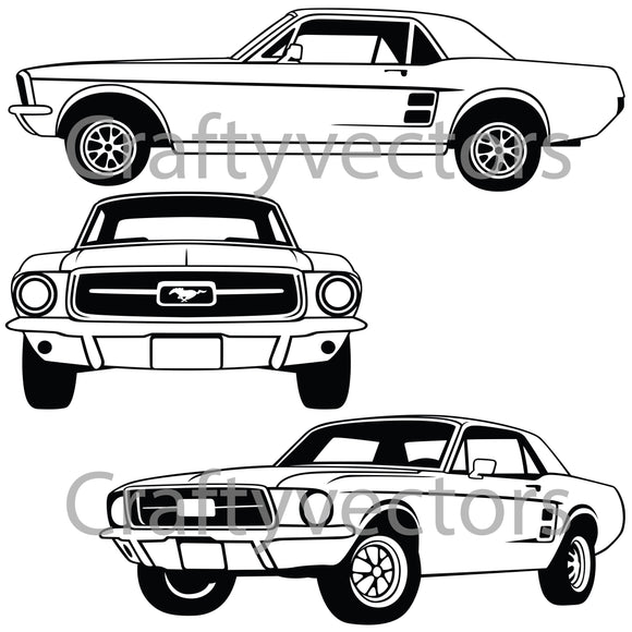 Ford Mustang 1967 Coupe Vector