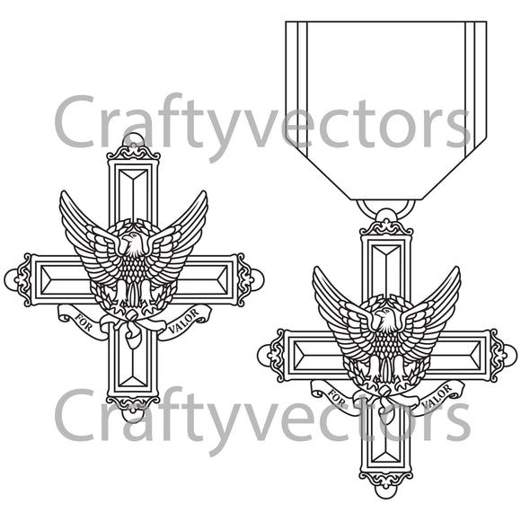 Distinguished Service Cross Medal Vector File