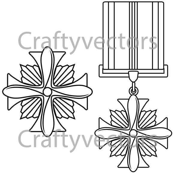 Distinguished Flying Cross Medal Vector File