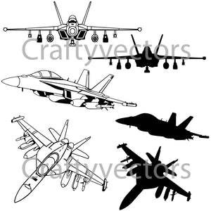 EA-18G Growler Vector File