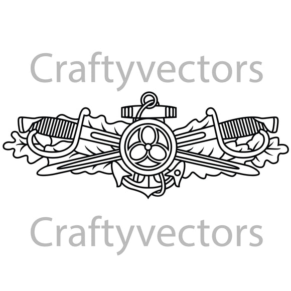 Navy Engineering Duty Officer Badge Vector File