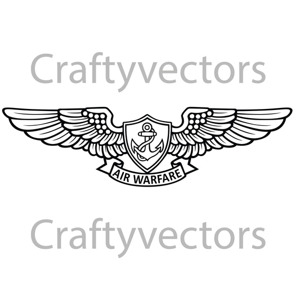 Navy Enlisted Aviation Warfare Specialist Badge Vector File