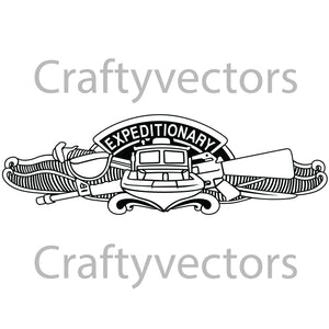 Navy Enlisted Expeditionary Warfare Insignia Vector File