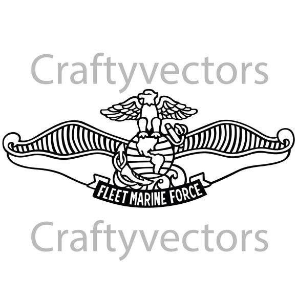 Navy Fleet Marine Force Chaplain Insignia Vector File