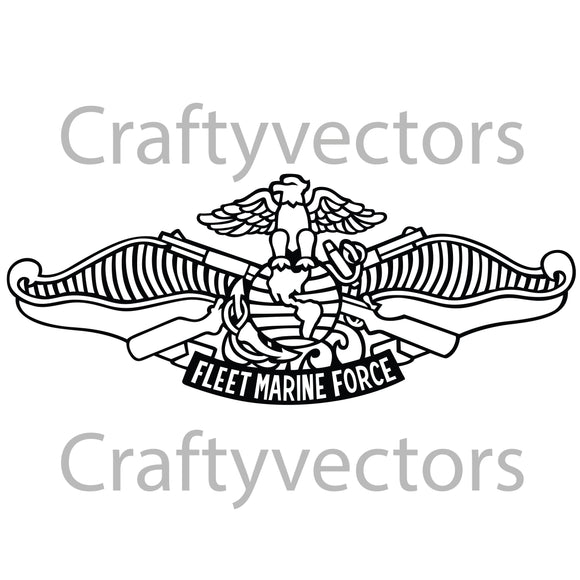 Navy Fleet Marine Force Insignia Vector File