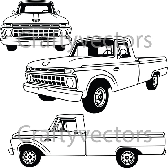 Ford F100 1965 Fleetside Vector