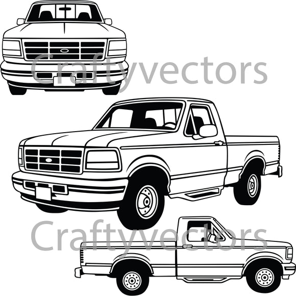 Ford F150 XLT 1995 Vector