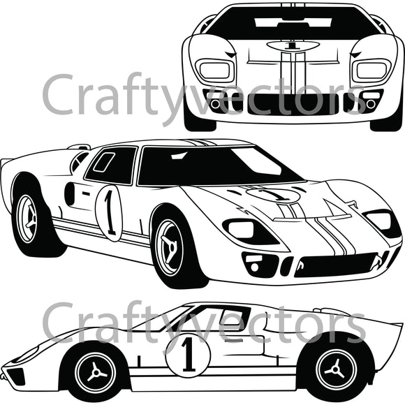 Ford GT40 Mk 2 Vector