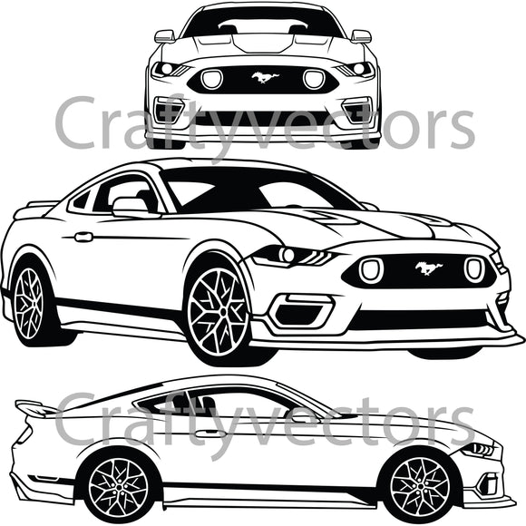 Ford Mustang 2021 Mach 1 Vector