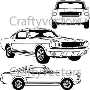 Ford Mustang 65 Shelby GT350 Vector