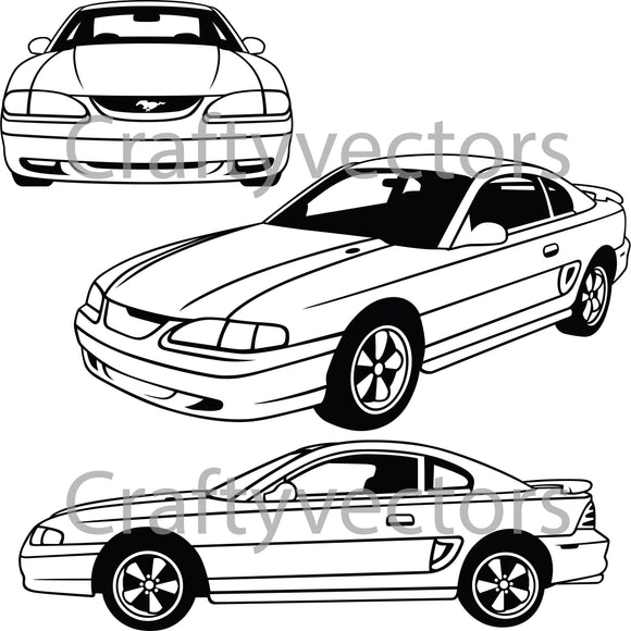 Ford Mustang 1994 GT Vector