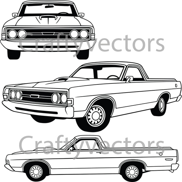 Ford Ranchero 1968 Vector