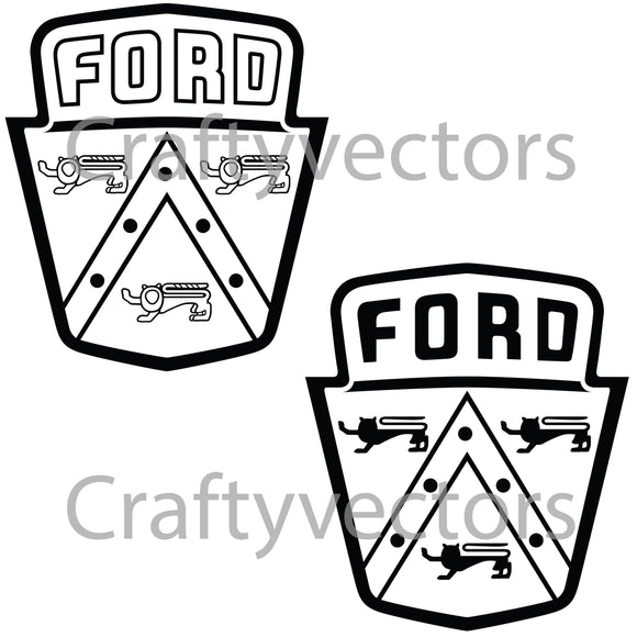 Ford Logo 1950's Vector