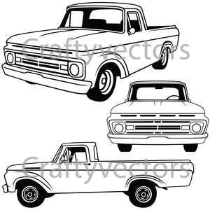 Ford F100 Truck 1962 Vector