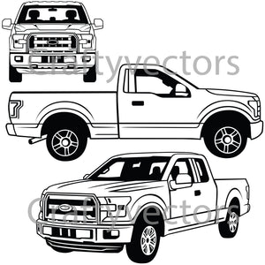 Ford F150 XL 2016 Vector