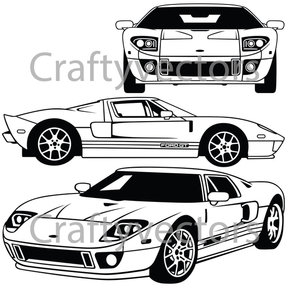 Ford GT 2005 to 2006 Vector