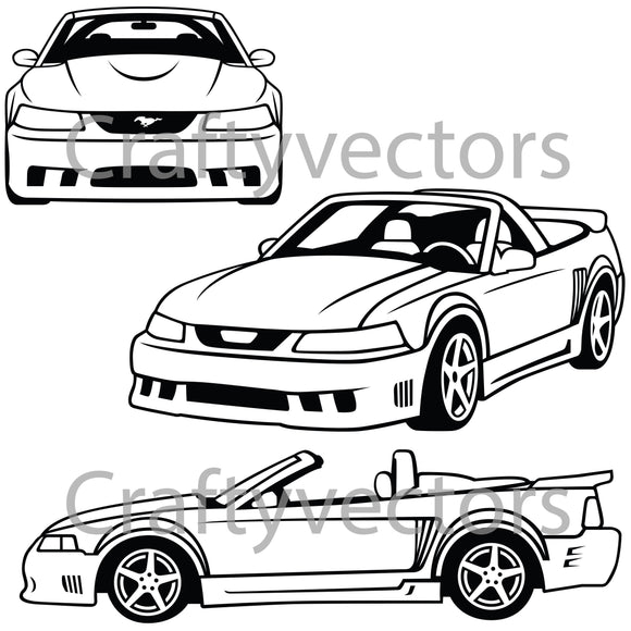 Ford Mustang 2002 Saleen Vector