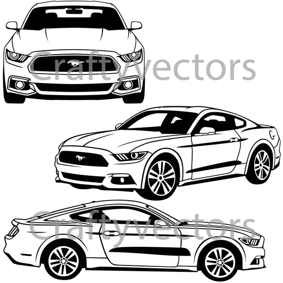 Ford Mustang 2015 Vector