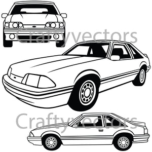 Ford Mustang 1989 LX Vector