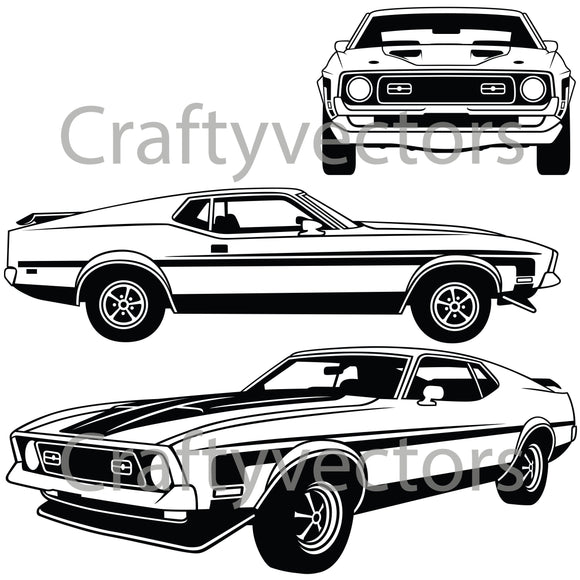 Ford Mustang 1971 to 1973 Mach 1 Vector